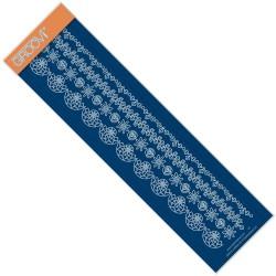 (GRO-FL-40832-09)Groovi Border Plate TINA'S ROSIE DOODLE