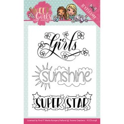 (YCCS10038)Clearstamp - Yvonne Creations - Sweet Girls