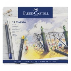 (114724)Faber Castell Goldfaber color pencil 24 pcs