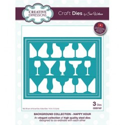 (CED7107)Craft Dies - The Background Collection - Happy Hour