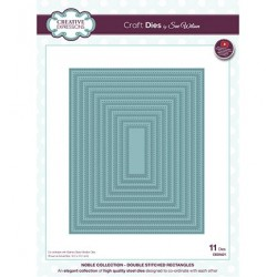 (CED5521)Craft Dies - The Noble Collection - Double Stitched Rectangles