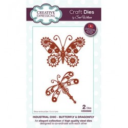 (CED25002)Craft Dies - Industrial Chic - Butterfly & Dragonfly