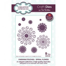 (CED1491)Craft Dies - The Finishing Touches Collection - Spiral Flower