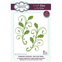 (CED1493)Craft Dies - The Finishing Touches Collection - Oak Leaf Swag