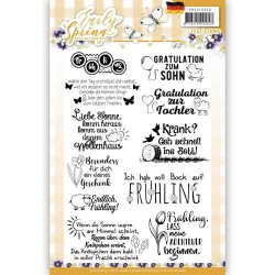 (PMCS10026)Textstamp - Precious Marieke - Early Spring - Tekst Duits