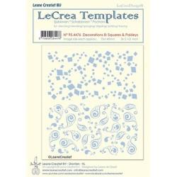 (95.3653)LeCrea Templates Flowers & Dots 4