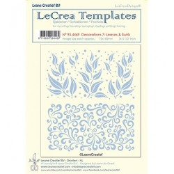 (95.4469)LeCrea Templates Leaves & swirls