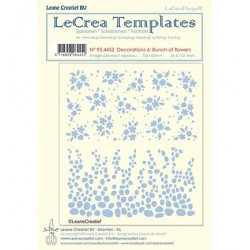 (95.4452)LeCrea Templates Bunch of flowers