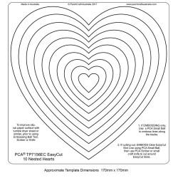 (TP7156EC)PCA® EasyCut 10 Nested Hearts