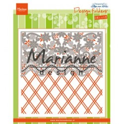 (DF3444)Marianne Design Folder + Die Anja's flower border