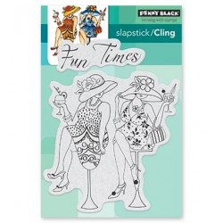 (40-531)Penny Black Stamp Fun Time Girls