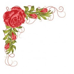 (LCS008)Nellie's Choice clear stamp Layered Roses Corner