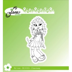 (BLS1026)By Lene Girl-2 Clearstamp