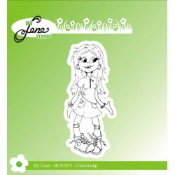 (BLS1025)By Lene Girl-1 Clearstamp