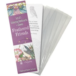 (ACC-BO-30388-XX)FEATHERED FRIENDS COLOURING BOOKMARKS