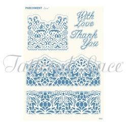 (PLG054)Parchment Lace Luxurious Lace Grid - Florentine