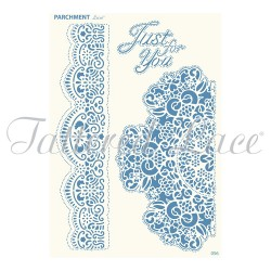 (PLG056)Parchment Lace Luxurious Lace Grid - Broderie