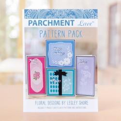 (433246)Parchment Lace Pattern Pack - Floral by Lesley Shore