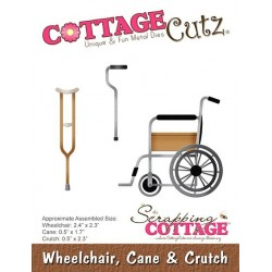(CC-397)Scrapping Cottage CottageCutz Wheelchair, Cane & Crutch