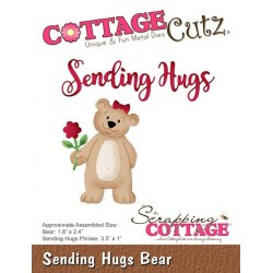 (CC-396)Scrapping Cottage CottageCutz Sending Hugs Bear
