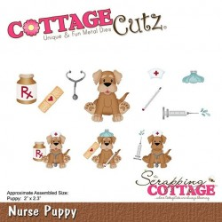 (CC-393)Scrapping Cottage CottageCutz Nurse Puppy
