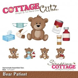 (CC-387)Scrapping Cottage CottageCutz Bear Patient