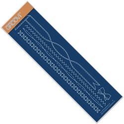 (GRO-WO-40286-09)Groovi Plate Borders Ribbon And Stiching