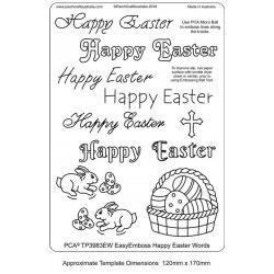 (TP3988EW)PCA® EasyEmboss Happy Easter Words