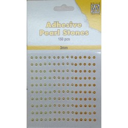 (APS304)Nellie`s Choice Adhesive pearls 3mm Yellow