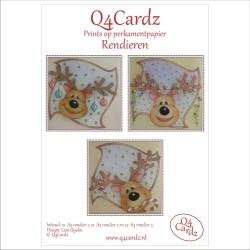 Q4 Cardz Rendieren A5 parchment papier