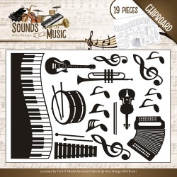(ADCB1001)Amy Design - Chipboard Sounds of Music
