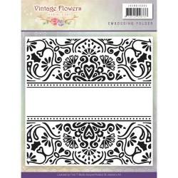 (JAEMB10005)Embossingfolder - Jeanine's Art - Vintage Flowers