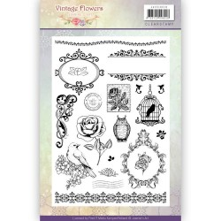 (JACS10013)Clearstamp - Jeanine's Art - Vintage Flowers