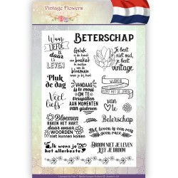 (JACS10014)Clearstamp - Jeanine's Art - Vintage Flowers NL