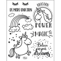 (4003 165 00)Clear Stamps - Unicorn Power