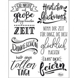 (4003 168 00)Clear Stamps - Lettering Deutsch