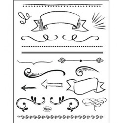 (4003 170 00)Clear Stamps - Lettering Elemente