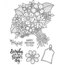 (JGB002)Woodware Clear Stamp Jane Gill Great Big Bunch