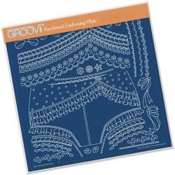 (GRO-LW-40367-15)Groovi Plate A4 OOOH-LA-LA KNICKERS