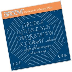 (GRO-PA-40552-15)Groovi Plate A4 OCTAGON EXTENSION & ART DECO ALPHABET