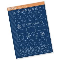 (GRO-TE-40436-16)Groovi plate A4 CHRISTMAS CRACKER