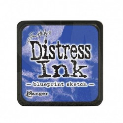 (TDP47346)Distress mini ink blueprint sketch