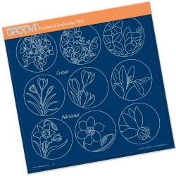 (GRO-FL-40916-15)Groovi Plate A4 LINDA WILLIAMS 123 FLOWER SAMPLER - HYDRANGEA