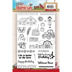 (YCCS10039)Clearstamp - Yvonne Creations Country Life