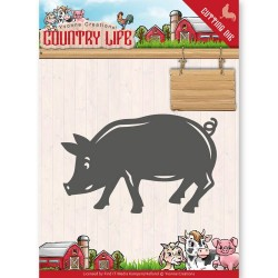 (YCD10130)Dies - Yvonne Creations - Country Life Pig