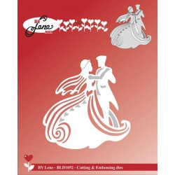 (BLD1052)By Lene Dancing Wedding Couple Cutting & Embossing Die