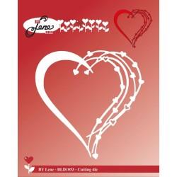 (BLD1053)By Lene Love Heart Cutting Die