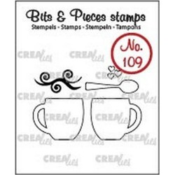 (CLBP109)Crealies Clearstamp Bits&Pieces no. 109 2 mugs + spoon