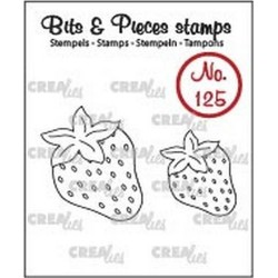 (CLBP125)Crealies Clearstamp Bits&Pieces no. 125 Strawberries