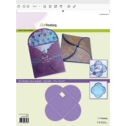 (185070/4501)CraftEmotions stencil envelope duo paper - square